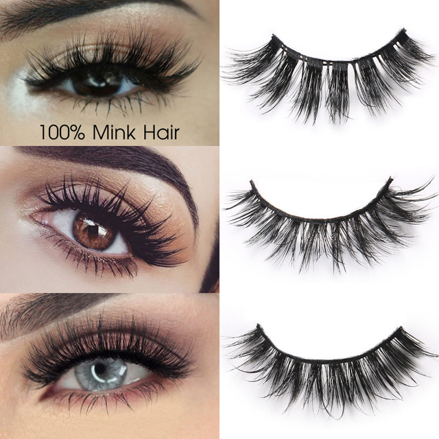 Sexy curly Mink Hair False Eyelashes 3D Natural/Thick Long Eye Lashes Wispy Eye Makeup Tools Faux Eye Lashes