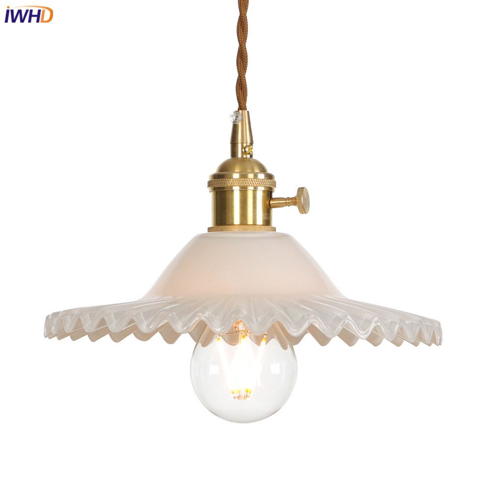IWHD Copper Nordic Pendant Lights LED Adjustable Glass Hanglamp Switch Retro Industrial Hang Lamp Fixtures Retro Industrial LampIWHD Copper Nordic Pendant Lights LED Adjustable Glass Hanglamp Switch Retro Industrial Hang Lamp Fixtures Retro Industrial Lamp