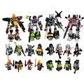 4 unids/lote Transformación Robot de juguete 4 en 1 para la construcción de 4 unids gran Coche Robot figura