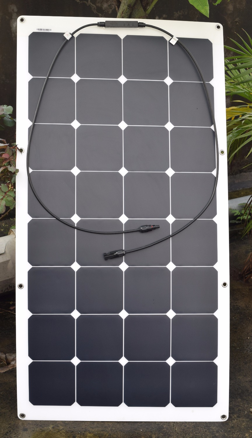 Solarpart 1x 100w Frosted Surface Flexible Solar Panel Cell Module System Kits Diy Rv Marine Boat Camp Car 12v Bat Charger