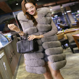 91f40446a2dfa KUEZLE Fur Vest Women Winter Long Fur Coat Female Jackets