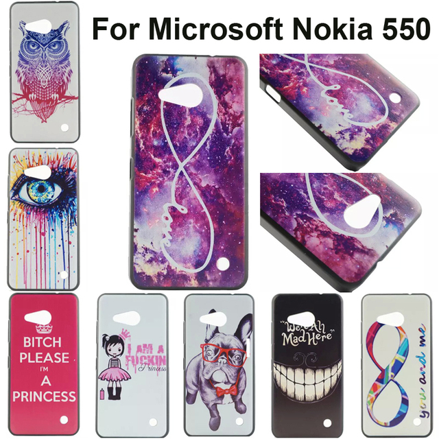 best sneakers 54f26 7cde0 US $1.79 |10 patterns dog hard plastic case for Nokia Lumia 550 back cover  full edge for Microsoft lumia 550 n550 phone bag shell skin on ...