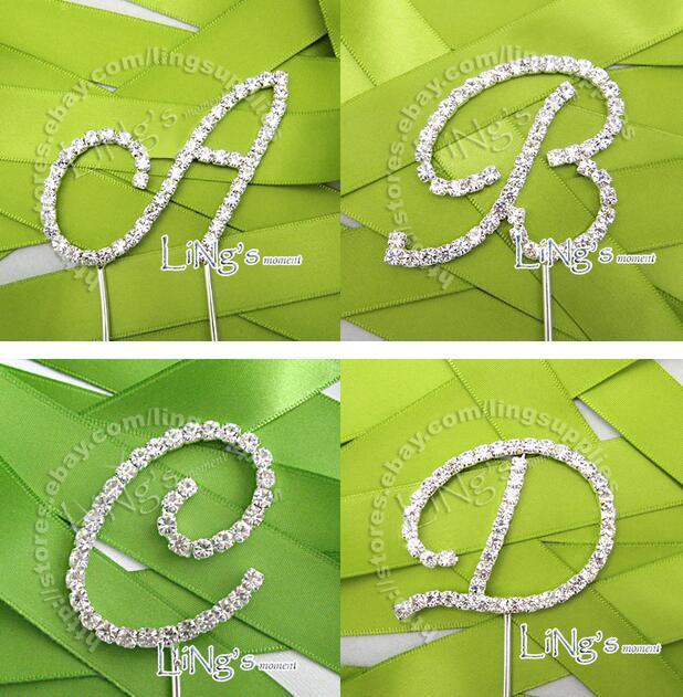 ᗑ】Envío libre 1x10 cm altura rhinestone Crystal letter alfabeto ...