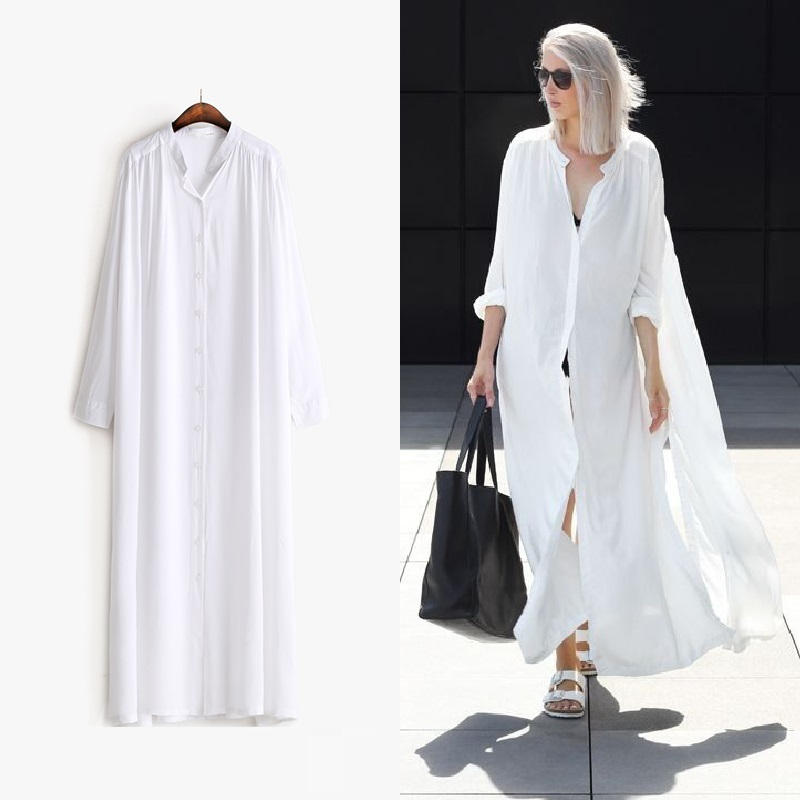 Buy women street wear fashion white shirt Buy white dress shirt