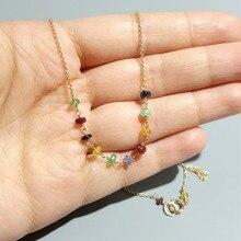 Lii ji esmeralda rubi safira natural pedra preciosa artesanal elegante corrente colar s925 fecho 40cm/45cm delicada jóias para o presente