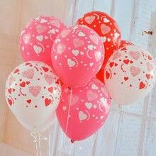 Potištěné nafukovací balónky se srdíčky 10 ks