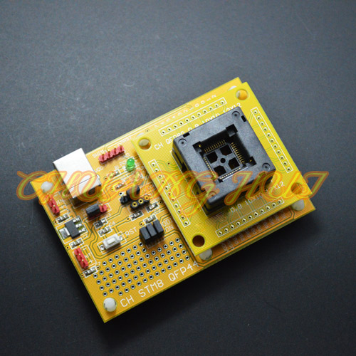 IC Open Top QFP44 STM8 Core board STM8A STM8S STM8L Download seat test socket Programmer adapter TQFP44 LQFP44 pitch 0.8mm