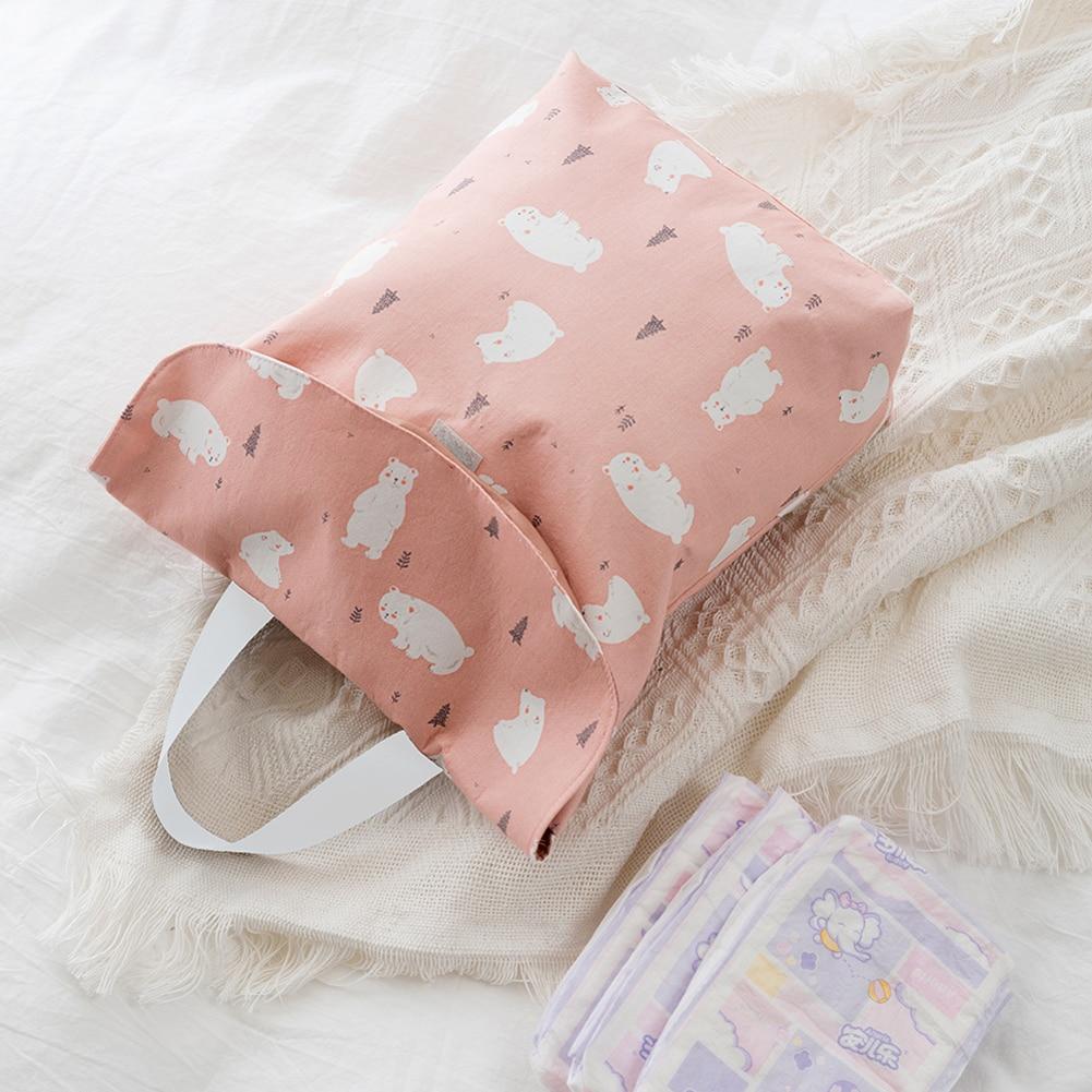 HTB18eVObEGF3KVjSZFoq6zmpFXao Hot Sale Baby Newborn Mini Waterproof Wet Dry Mom Bag for Baby Infant Cloth Diaper Nappy Pouch Reusable travel outdoor