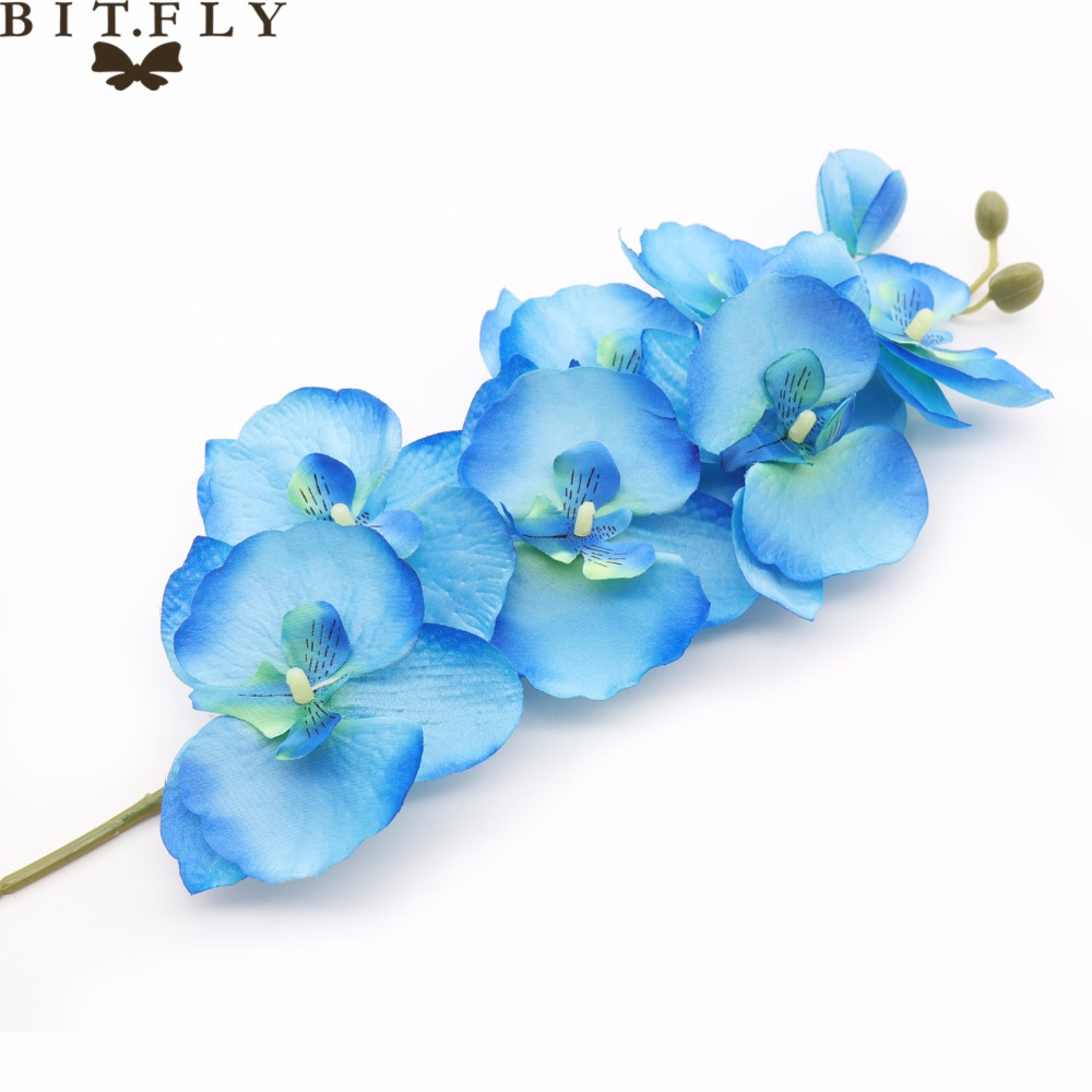 1pc Butterfly Orchid Real Touch Artificial Silk Fake Flowers For