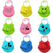Baby's Colorful Waterproof Silicone Bib