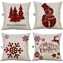 Throw Pillows Cover Decor Christmas Sofa Bed Home Decor Pillow Case Cushion Cover living room cushions(China)