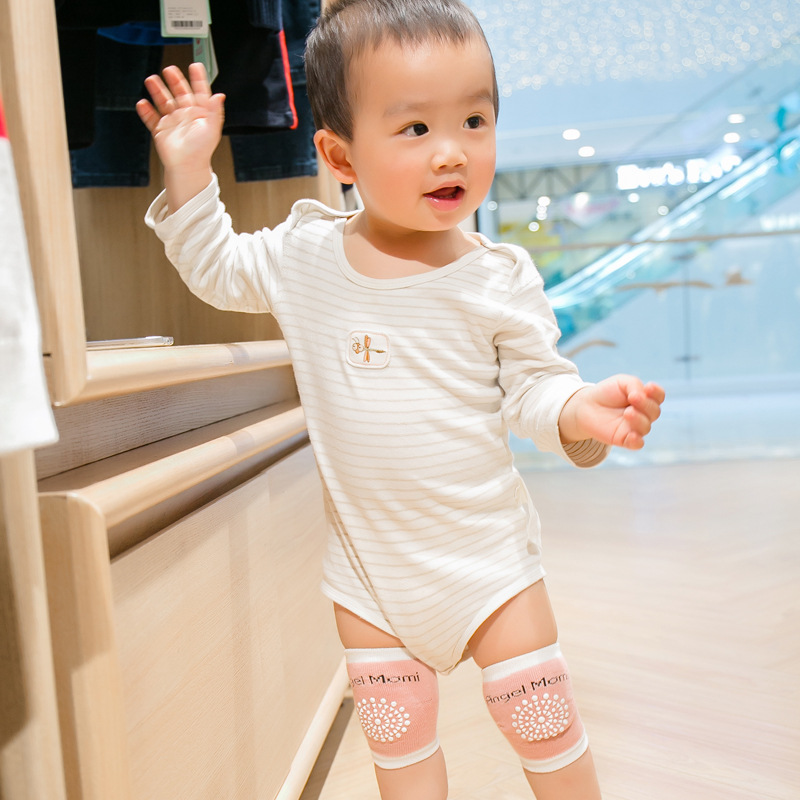 4141e5f221 1 Pair Baby Cotton Knee Pad Soft Crawling Kneecap Infant Toddlers Non Slip  Knee Support Protector Cushion Leg Warmer For 0 3 Age-in Leg Warmers from  Mother ...