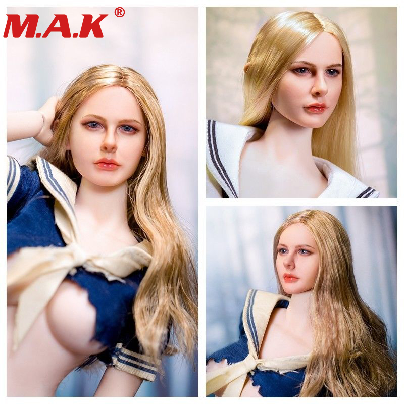 1/6 female woman girl young lady head carving headplay Chloe Moretz Curls head sculpt for 12 inches action figure body