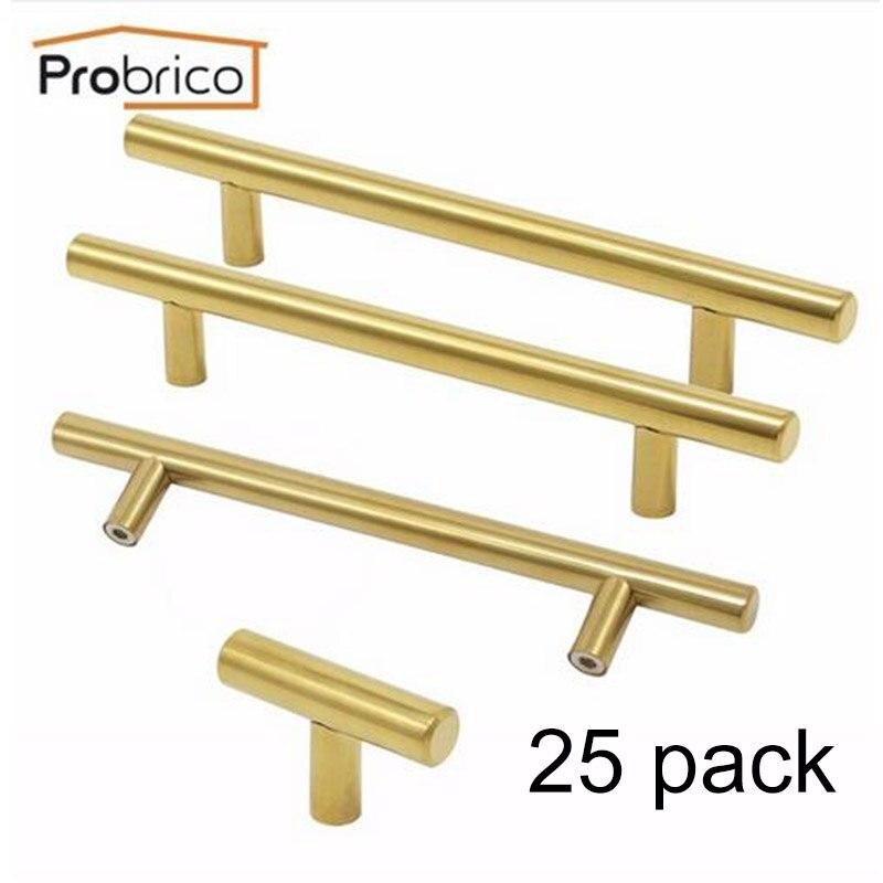 25 Pack Probrico Round Cabinet Knob Kitchen Drawer Pull Antique Black Cupboard Handle Diameter 31mm