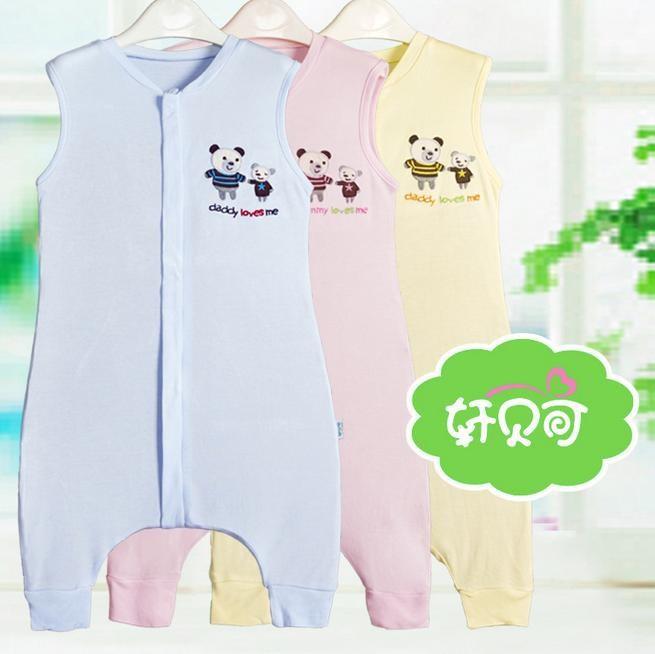 Bamboo fiber sleeveless sleeping bag Baby legs simple sleeping ... 2869610bd