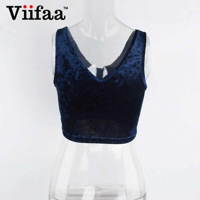 487338db6a3 Source https   www.aliexpress.com item Viifaa-Women-Velvet-Sexy-V-Neck-Crop- Top-2017-Sleeveless-Tank-Top-Summer-Nvay-Blue-Sexy 32802229785.html