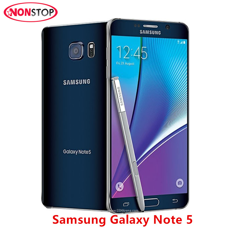 Mobile Phones Open-Minded Unlocked Samsung Galaxy Note 5 N920a Lte Cell Phones Quad Core 4gb Ram 32gb Rom 5.7 Inches 1440 X 2560 Pixels 16mp Camera Elegant Shape