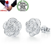 OMHXZJ Wholesale Fashion jewelry The love of romantic and elegant cherry blossoms 925 sterling silver Stud earrings YS26