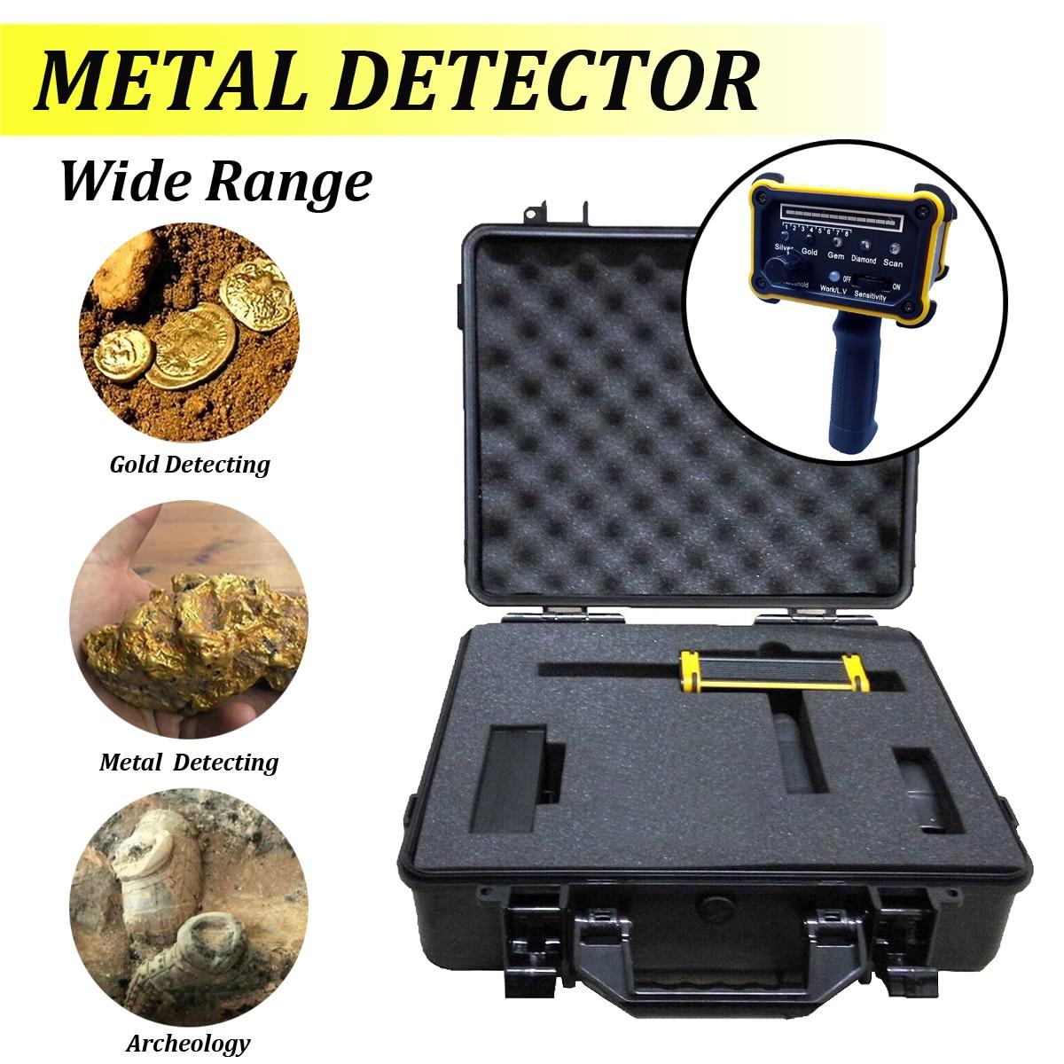 1 set 1000 m Metal Detector macchina MAX 30 m di Profondità metal Detector Oro Argento Diamante Attrezzature con Impermeabile di Imballaggio box