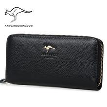 Kangaroo Kingdom Luxury Women Wallets Genuine Leather Pusre Brand Wallet Ladies Clutch цена