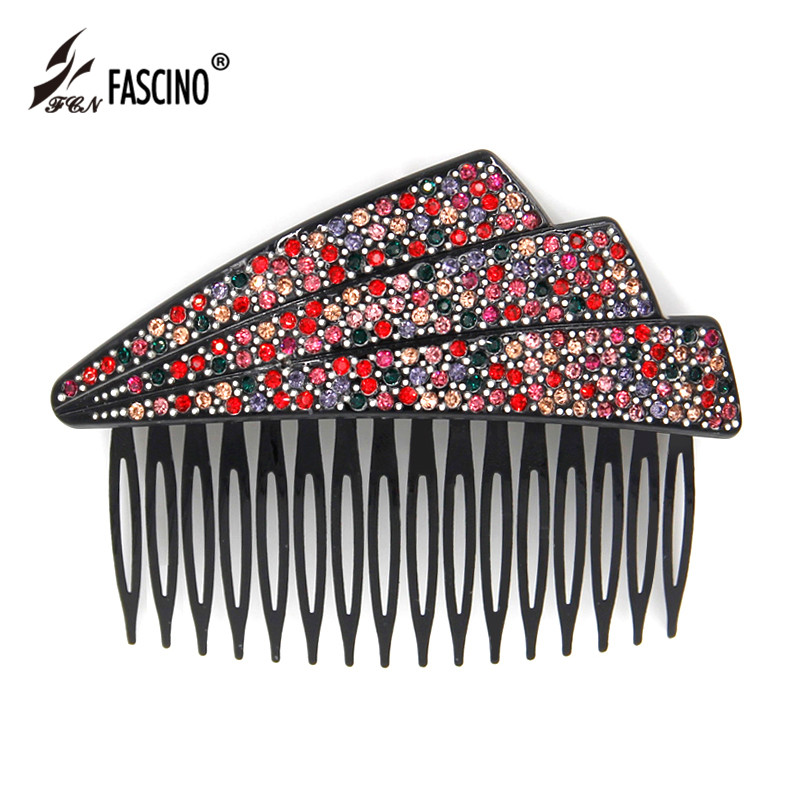 2016 New Vintage Style Full Rhinestone Crystal Hair Comb Women Girls Acetate Hairpins Party Hair Jewelry Accessories (EY880002)