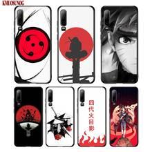 Black Silicon Phone Case Hokage Naruto Kakashi For Huawei P8 P9 P10 P20 P30 Pro Lite P Smart Plus Y6 Y7 Y9 2019 2017