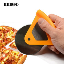FEIGO Mini Pizza Cutter Stainless Steel Pizza Cutter Round Shape Pizza Wheels Cutters Cake Bread Knife Cutter Pizza Tools F152 цена и фото
