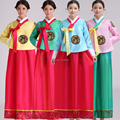 Новый 2015 Высокое Качество Женщины Дети 4 Стилей Вышивки Корейский Традиционный Платье Национальной Косплей Костюм Корейский Ханбок