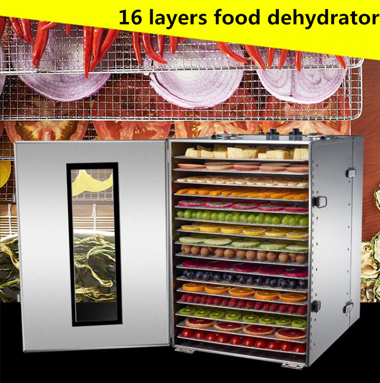 16 Tray Fruit Dehydrator Machine Fruit Vegetable Meat Herbal Tea Fish Dryer Food Dryer 2015 arrival real 21 30 years beleza fresh fruit tea super peach detox beauty freckle natural without added herbal