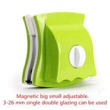 Cepillo de limpieza de ventanas, imanes, limpiador de vidrio (3 26mm), cepillo de superficie ajustable, herramientas limpiadoras de ventana magnética