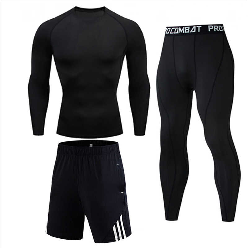 Compressie Track Suit Mannen Sportswear Fitness Mma Kleding Tactische Leggings Rashguard Kit Crossfit T-shirt Panty Jogging Set