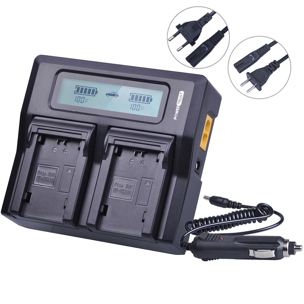 1pc 7 2v 2280mah Np Fz100 Camera Battery Eu Us Charger For Sony Bc Qz1 Npfz100 Rapid Lcd Dual