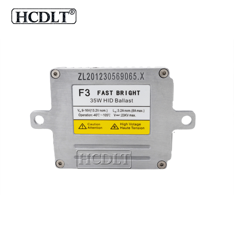 HCDLT 1X AC 35W DLT F3T Xenon HID Ballast 12V Car Light Fast Start Reactor Xenon DLT F3 HID Digital Slim Ballast Block Ignition