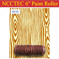 Wood Grain Pattern 6 Soft Rubber Decorator Roller FREE Shipping 150mm Wood Grain Wall Paint