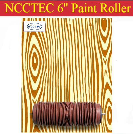 Wood Grain Pattern 6 Ncctec Soft Rubber Decorator Roller Free
