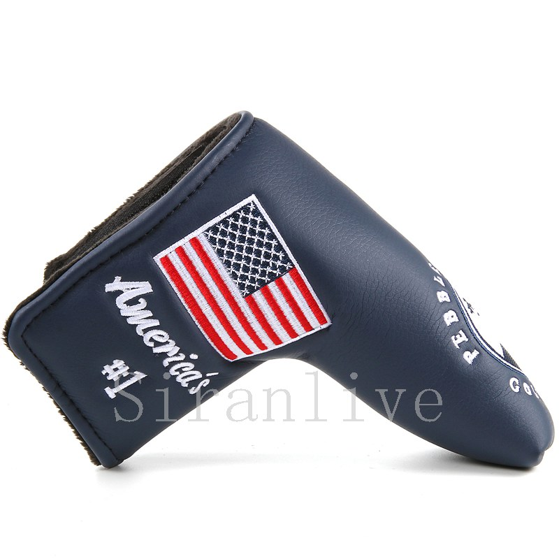 1pc Blade Covers For Golf Scotty Cameron Putter USA Flag Red Super Bees Embroidery