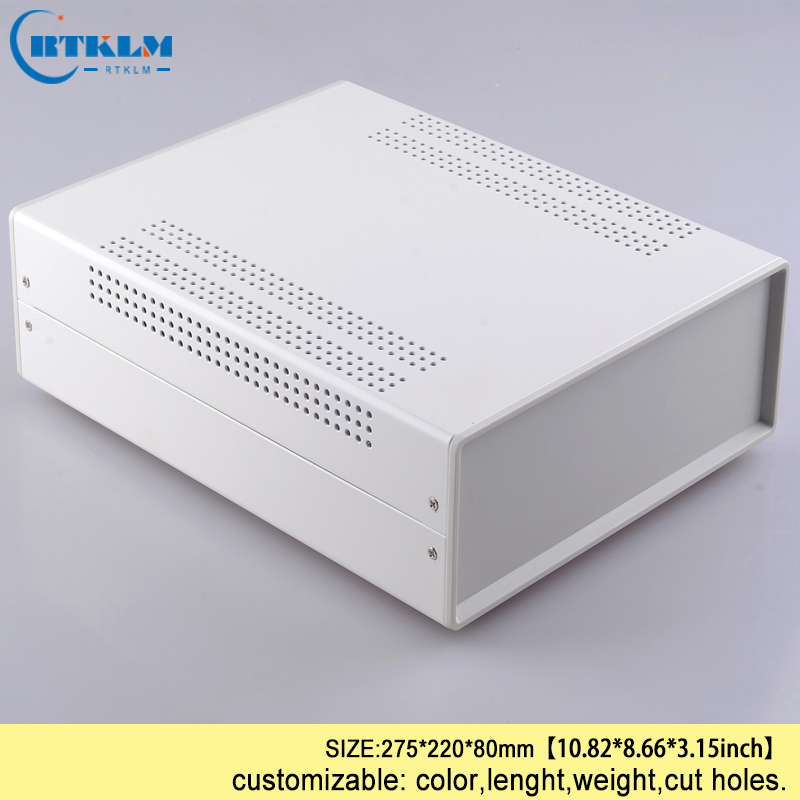 Electronic housing products iron enclosure diy iron project case instrument case for power supply junction box 275*220*80mm