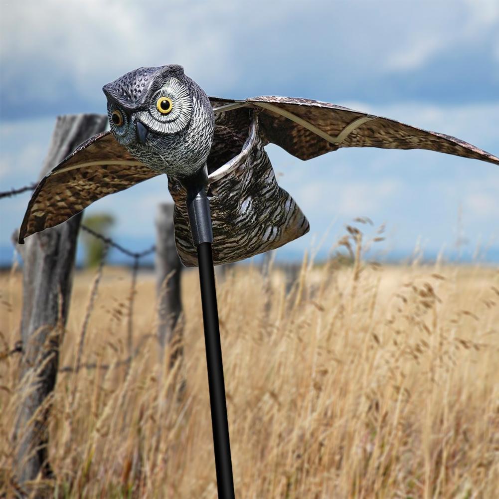 Prowler Eule Vogel Scarer mit Moving Flügel Garten Scarecrow Predator Decoy Pest Vogel Schädlingsbekämpfung Scarecrow Garten Yard Decor