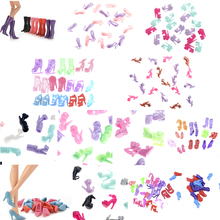 Colorful Different Styles Fashion Boots High Heels Shoes Sandals Cute DIY Clothes For  Doll Accessories Gifts Quality