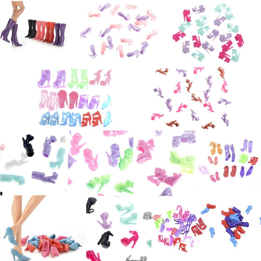 Coloridos Diferentes Estilos de Moda Botas de Salto Alto Sapatos Sandálias Sapatos Bonitos Roupas DIY Para Acessórios Da Boneca Presentes de Alta Qualidade
