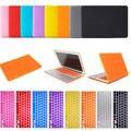 Novo laptop matte da tampa do caso com teclado de borracha com a pele para apple macbook air pro retina 11/13/15 caso laptop frete grátis