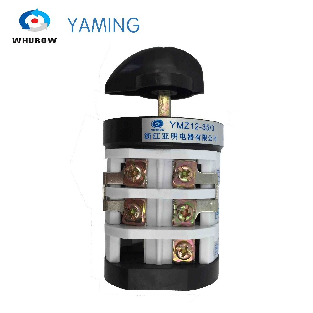 Yaming electric rotary changeover cam switch for tire changer machine tyre handler 32A 690V 3 phase switch YMZ12-35/3 30mm installation size plastic demounting head with metal flange tyre changer accessory tyre changer tool head