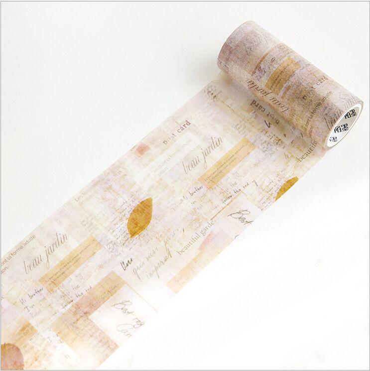 100mm Wide Vintage Mottled Shredding Paper Collage Decoration Washi Tape DIY Planner Diary Scrapbooking Masking Tape Escolar