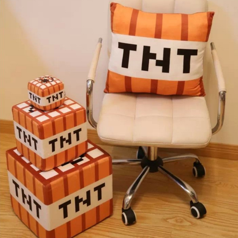 10/20/30cm Cartoon Game Minecraft TNT Bomb Plush Toy Stuffed Doll Toy Pillow Children Ch ...