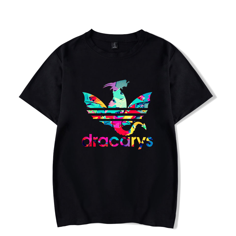 Dracarys   T     shirts   Game Of Thrones Unisex Adults   T  -  Shirt   harajuku Vintage style   T     shirt   Camisetas hombre Tshirt Men Clothing 2019