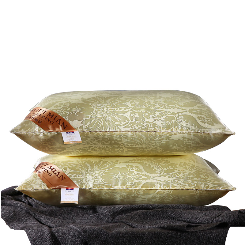 Mail Free High End Analog Silk Pillow Memory Neck Pillow