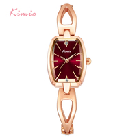 KIMIO Luxury Women Bracelet Watches Stainless Steel Hollow Rose Gold Plated Female Quartz Watch 2017 Montre