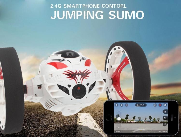 RC Auto mit kamera HD 2.0mp Heißer verkauf WIFI Bounce Auto PEG SJ88 4CH 2,4 ghz Springen Sumo mit Flexible räder Fernbedienung FSWB