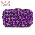 NATASSIE 2017 New Arrival Women Clutch Bag Ladies Evening Bags With Chain Party Purse And Handbags Big Stone Designer Clutches