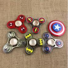 Avengers Spinner Batman Metal Fidget cube  Spinner For Austim ADHD Anti Stress